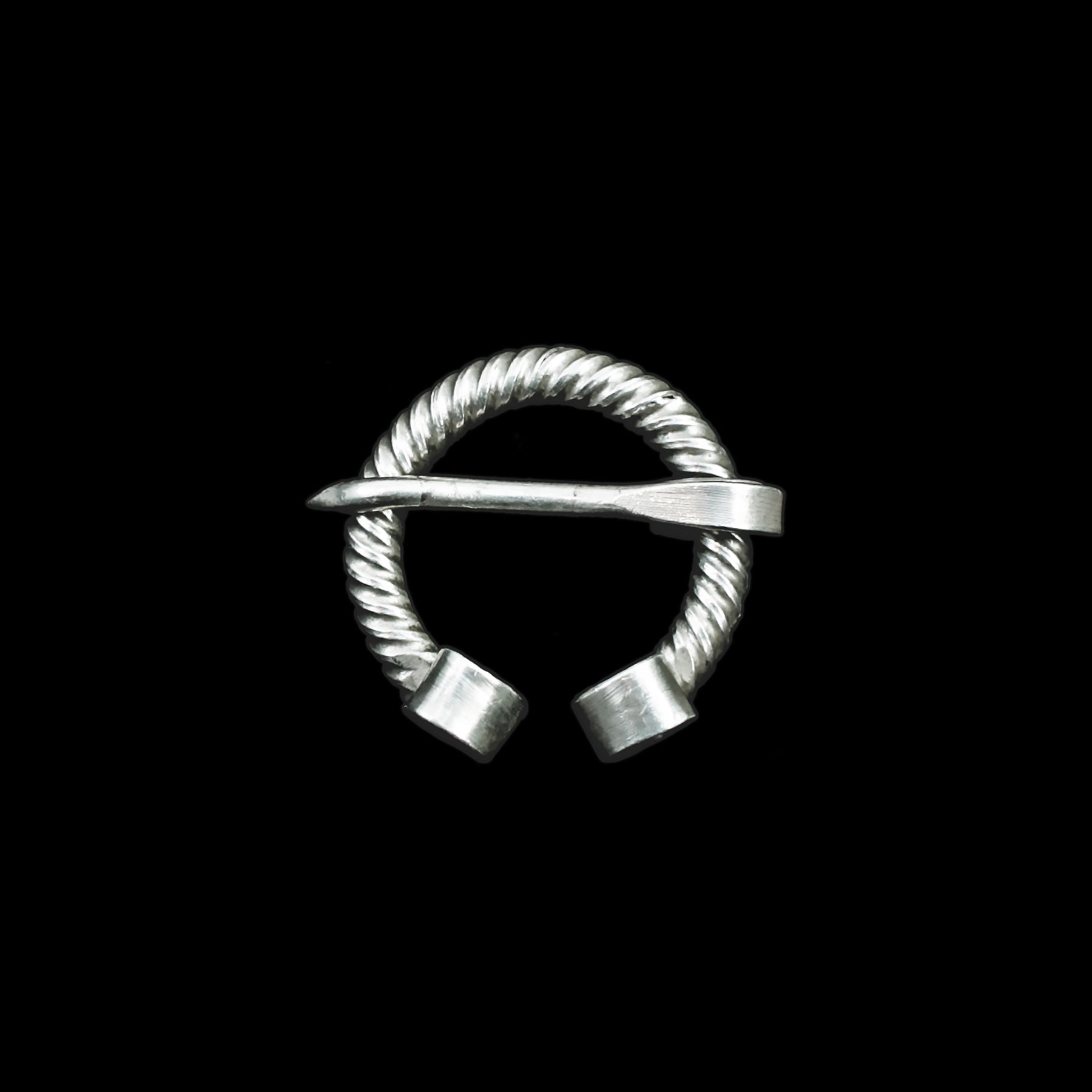 Twisted Silver Penannular Brooch / Clothes Pin