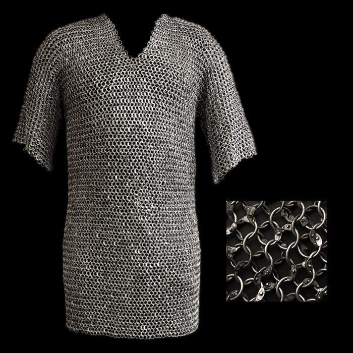 Riveted Steel Chainmail Shirt