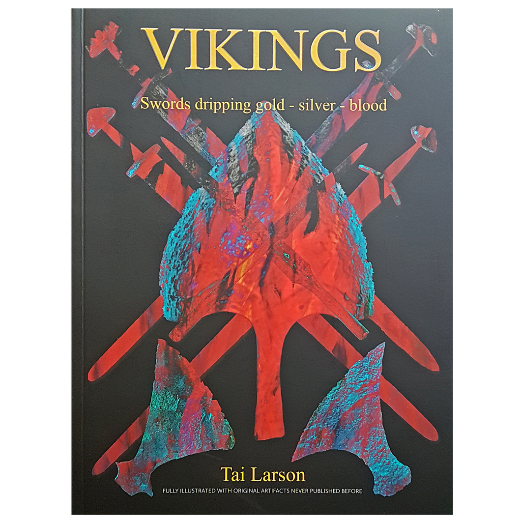 Vikings - Swords Dripping Gold - Silver - Blood - Book - Front Cover