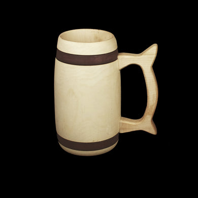 Birch Wood Beer Tankard - Large Size - Viking Feasting Supplies