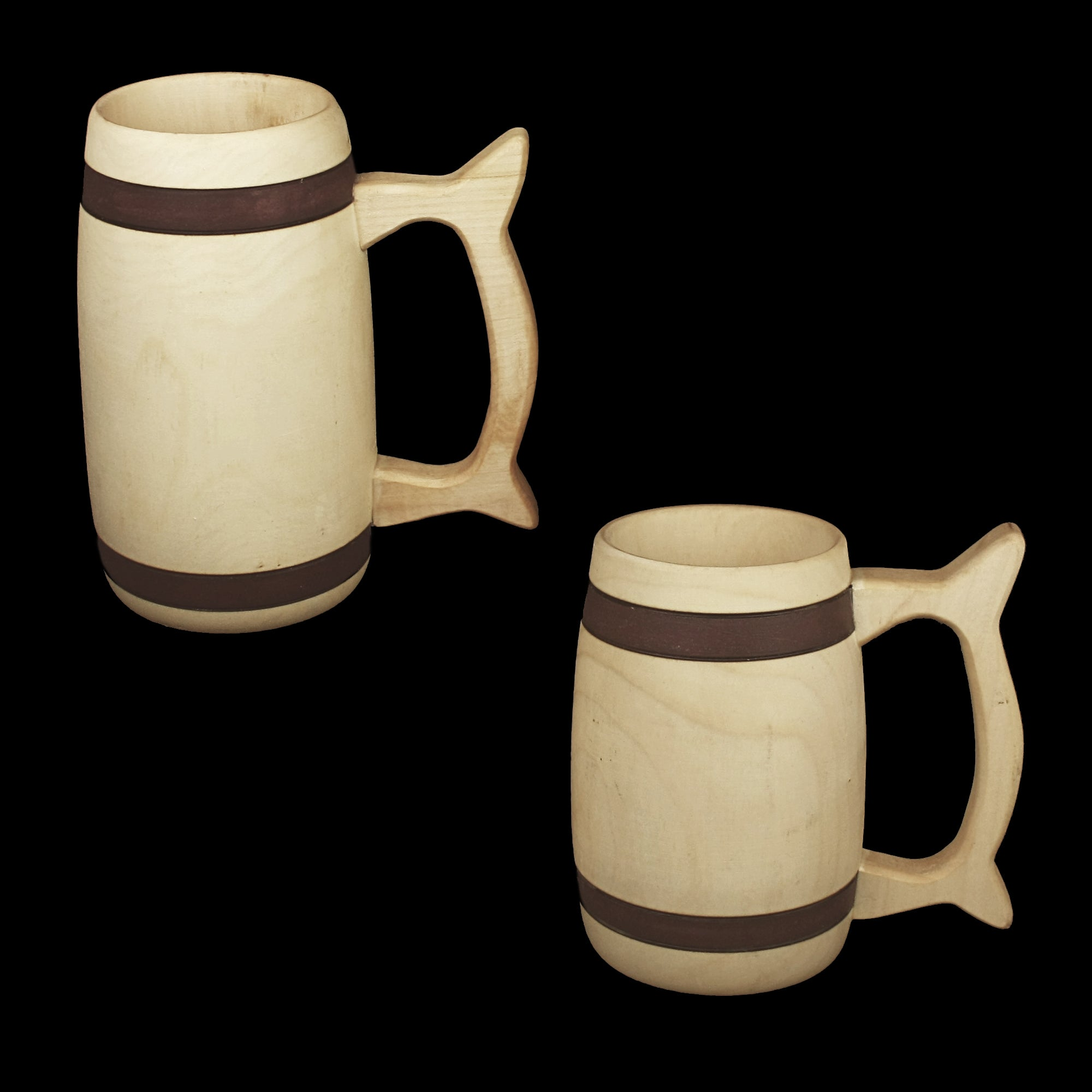 Birch Wood Beer Tankards - Viking Feasting Supplies