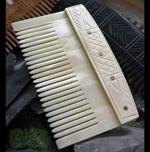 Load image into Gallery viewer, Decorated Bone Viking Comb - Viking Combs