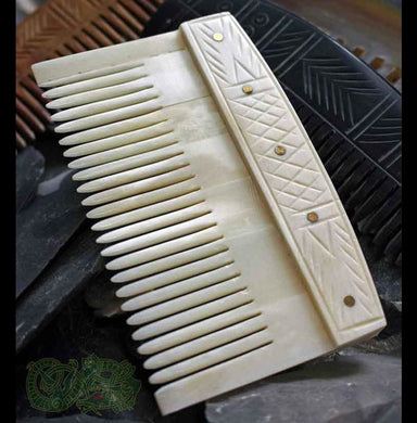 Decorated Bone Viking Comb - Viking Combs