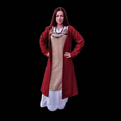 Red Wool Womens Viking Coat - Womens Viking Clothing