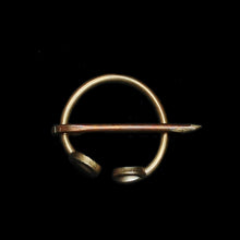 Load image into Gallery viewer, 20mm Bronze Clothes Pin / Fibula / Penannular Brooch - Viking Clothing