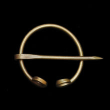 Load image into Gallery viewer, 25mm Bronze Clothes Pin / Fibula / Penannular Brooch - Viking Clothing