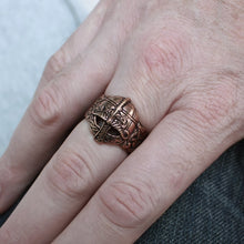 Load image into Gallery viewer, Bronze Viking Helmet Ring - Viking Rings