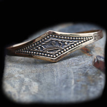 Load image into Gallery viewer, Viking Longship Bracelet in Solid Bronze on Rock  - Viking Jewelry