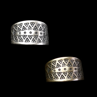 Embossed Replica Viking Rings in Silver or Bronze - Viking Jewelry