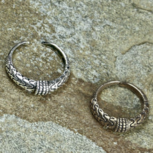 Load image into Gallery viewer, Silver & Bronze Replicas of a 10th Century Viking ring found in Orupgård, Falster, Denmark