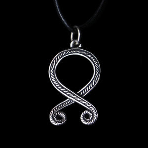Silver Troll's Cross Pendant - Viking Jewelry