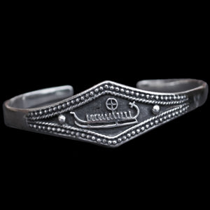 Viking Longship Bracelet in 925 Sterling Silver  - Viking Jewelry