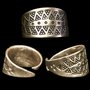 Replica Embossed Viking Ring - Bronze - Viking Rings