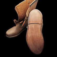 Load image into Gallery viewer, Handmade Leather Viking Jarl Boots Sole - Viking Clothing & Footwear