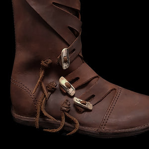 Handmade Viking Jarl Boots - Side Close