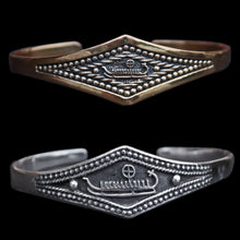 Load image into Gallery viewer, Viking Longship Bracelets in 925 Sterling Silver & Bronze - Viking Jewelry
