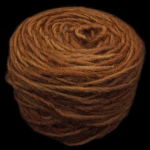 Plant Dyed Brown Nalbinding Wool Yarn Ball