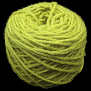 Plant Dyed Light Green Nalbinding Wool Yarn Ball