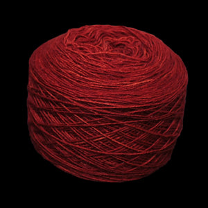 Madder Red wool ball for clothing embroidery
