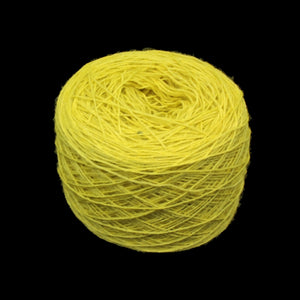 Yellow wool ball for clothing embroidery