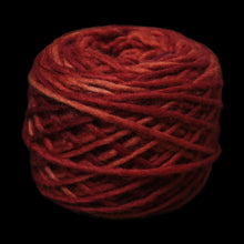 Load image into Gallery viewer, Plant Dyed Madder Red Nalbinding Wool Yarn Ball