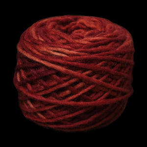 Plant Dyed Madder Red Nalbinding Wool Yarn Ball