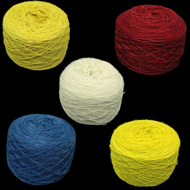 Natural and plant dyed wool balls for clothing embroidery