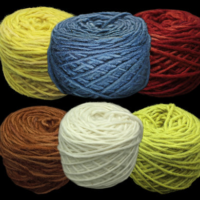 Plant Dyed Natural Nalbinding Wool Yarn Balls