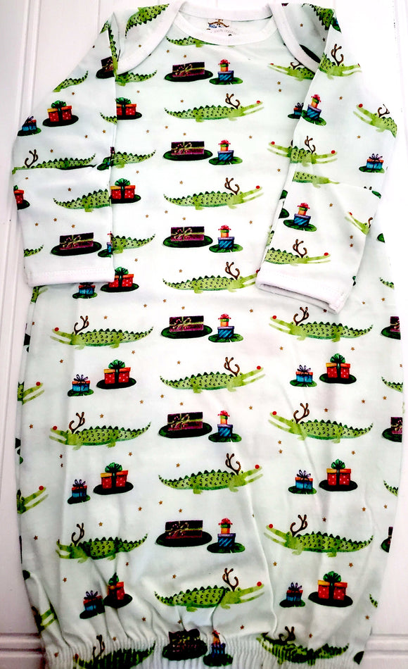 Rudolph The Red Nose Alligator Organic PJ Gown