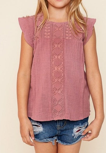 Crochet Knit Girls Top