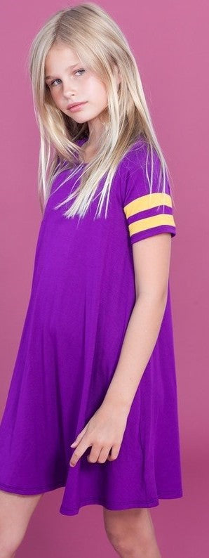 Purple and Gold Game Day Tunic Dress