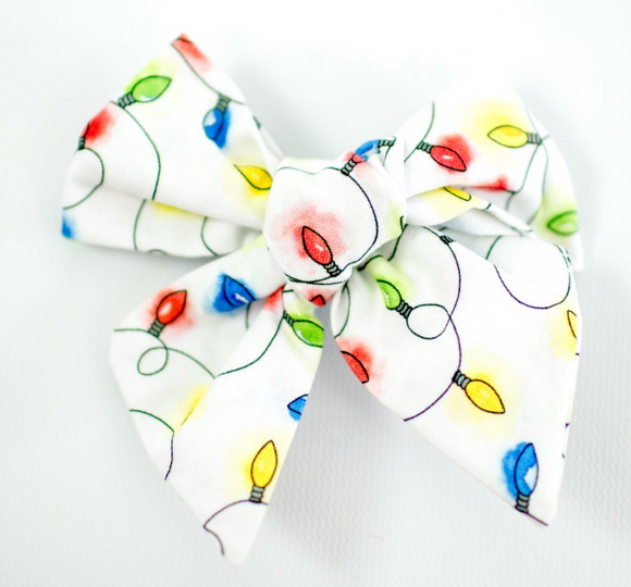 Christmas Light Sailor Bow
