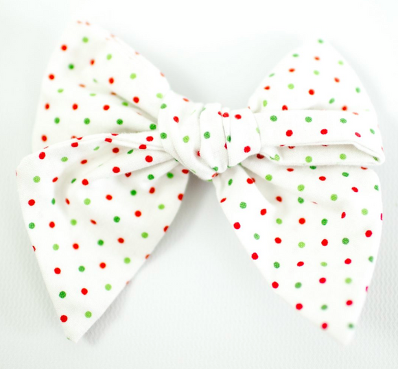 Christmas Polka Dot Sailor Bow