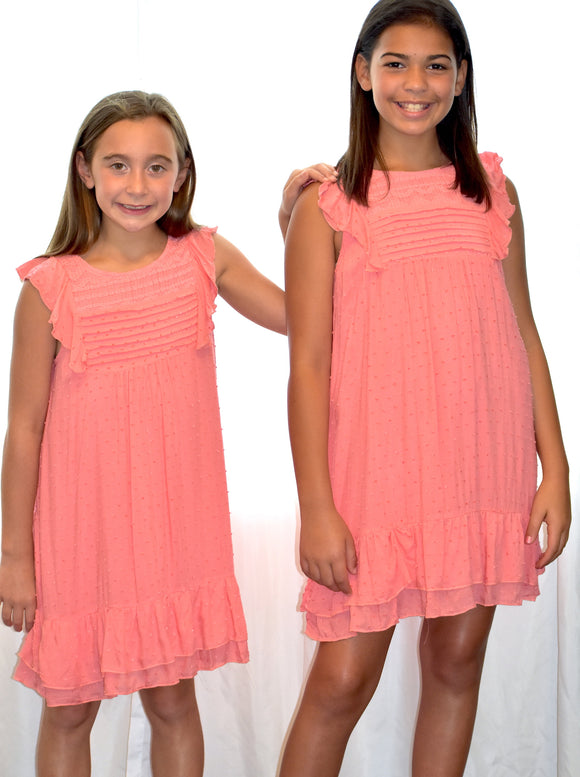 Ruffle A-Line Dress