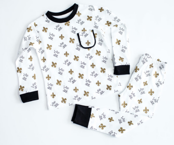 Who Dat Organic Cotton  Pajama Set