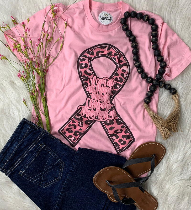 Leopard Breast Cancer Ribbon