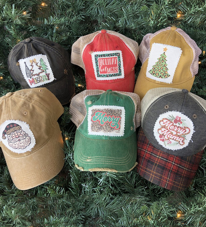 Christmas Printed Patch Cap