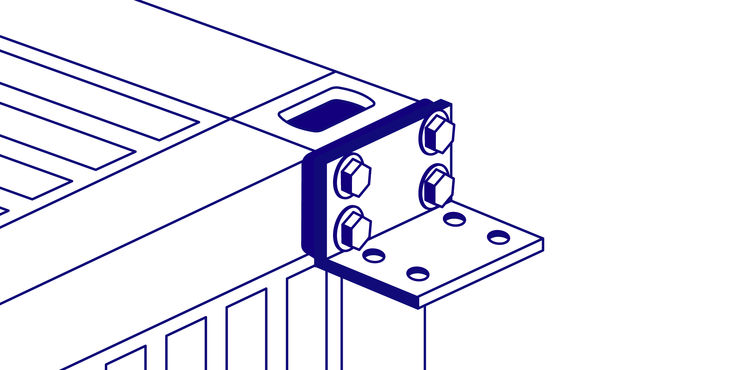 Angle Iron shipping container bracket