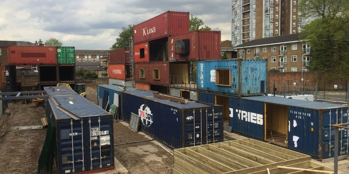 Commercial shipping container project