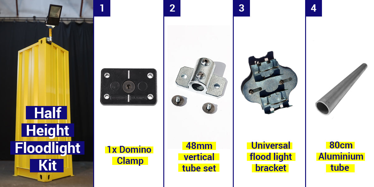Half Height Shipping Container Floodlight Kit
