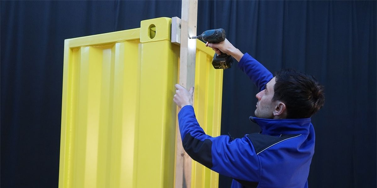 How to attach timber to a shipping container