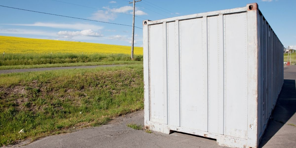 Non ISO painted shipping container