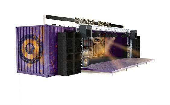 Shipping container stage