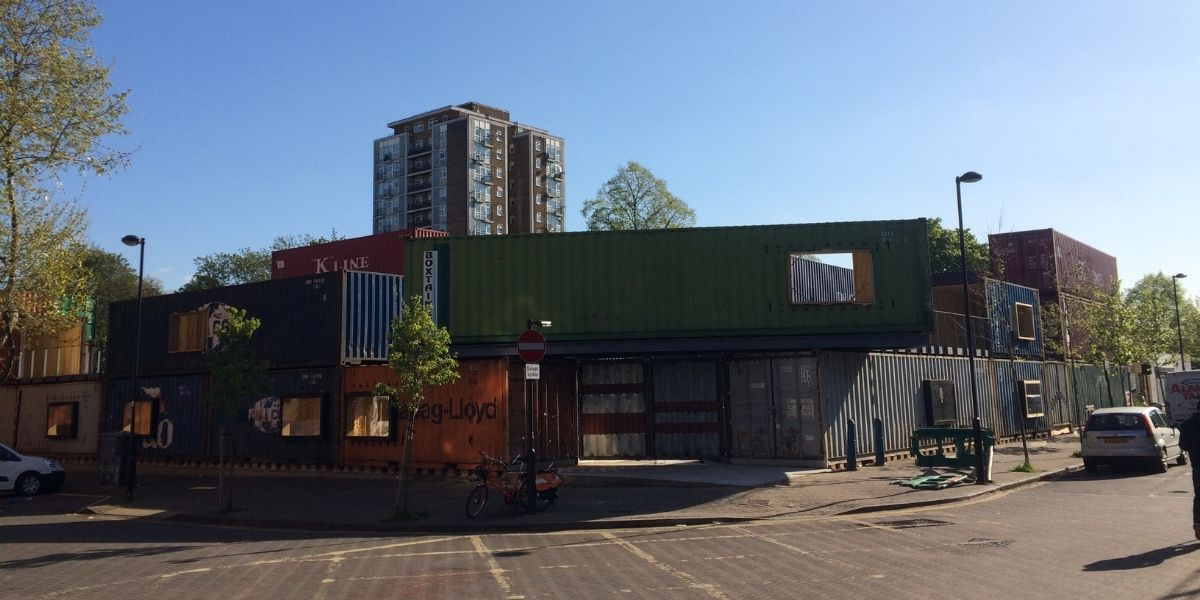 Pop Brixton shipping container build