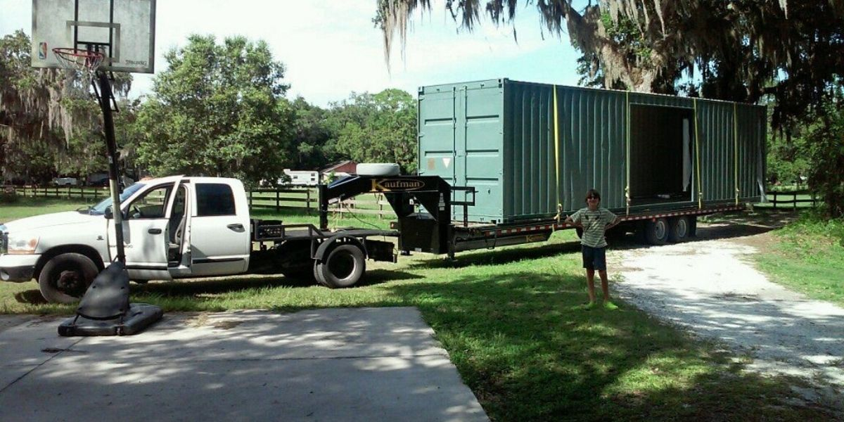 Portable shipping container home