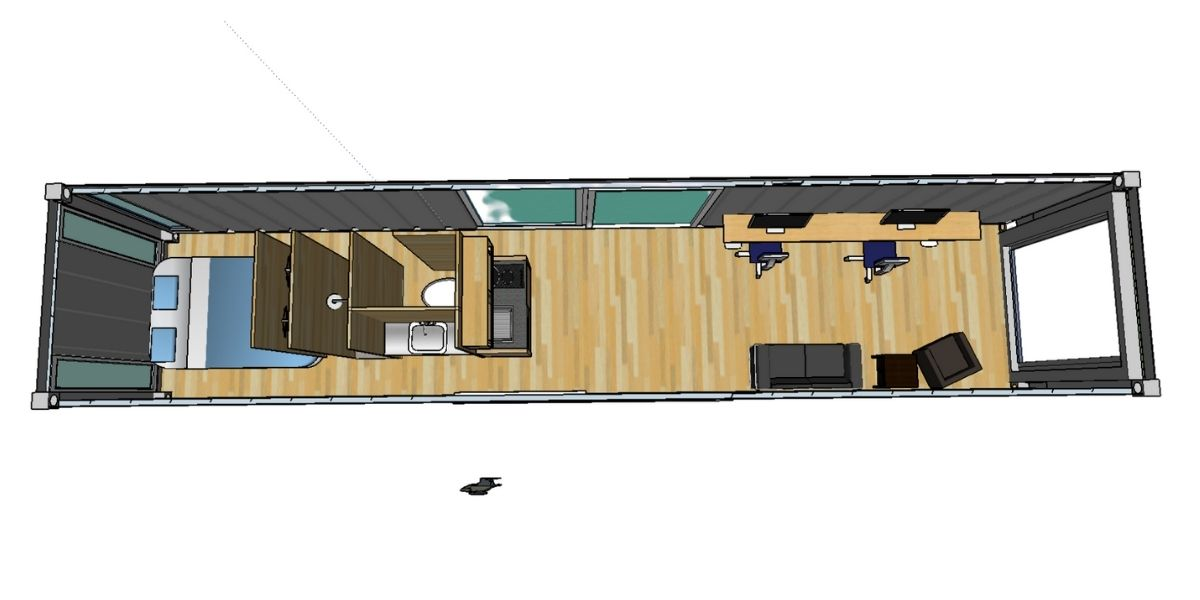 Shipping container 3D plan
