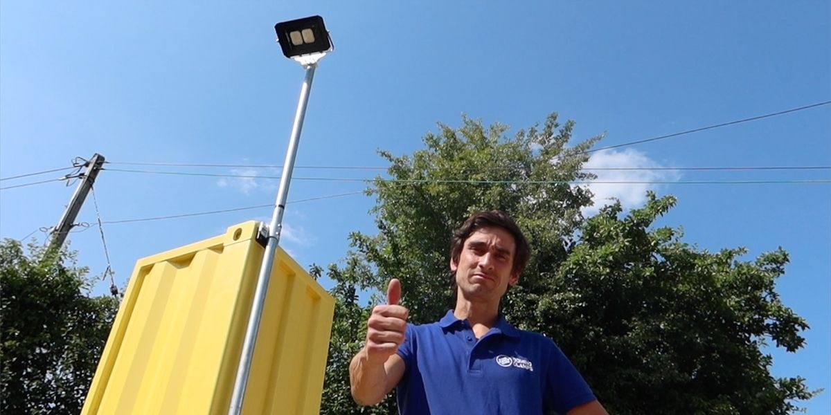 Why attach a floodlight to a shipping container