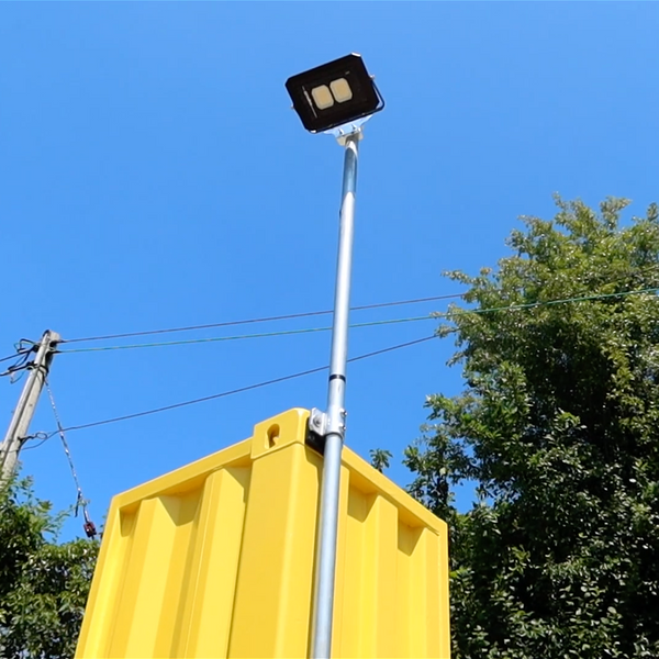 Securely attach Flood Lights using Domino Clamps Shipping Container Flood Light Kit