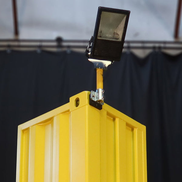 Securely attach lighting to a Shipping container with this single flood light kit