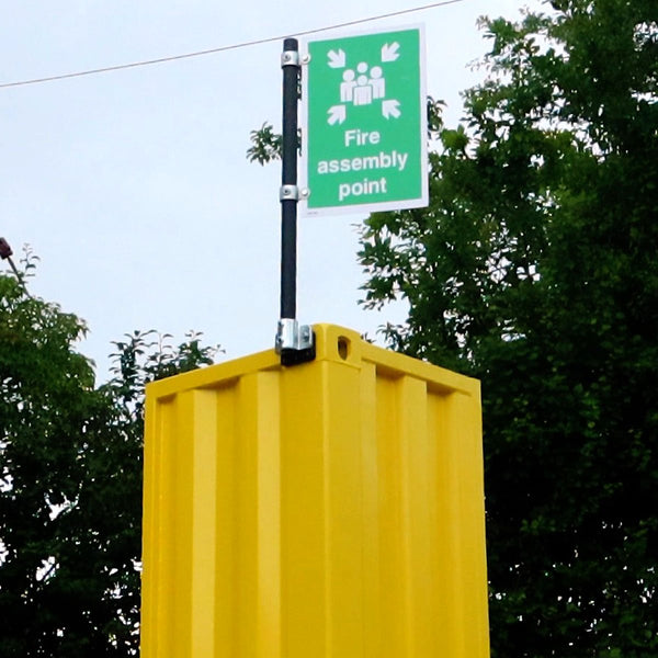Shipping Container Signpost Kit -for 48mm tube with Sign attached